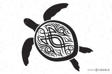 Vector de tótem de tortuga