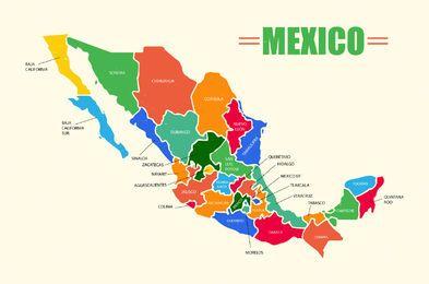 Mapa Mexiko Vektor