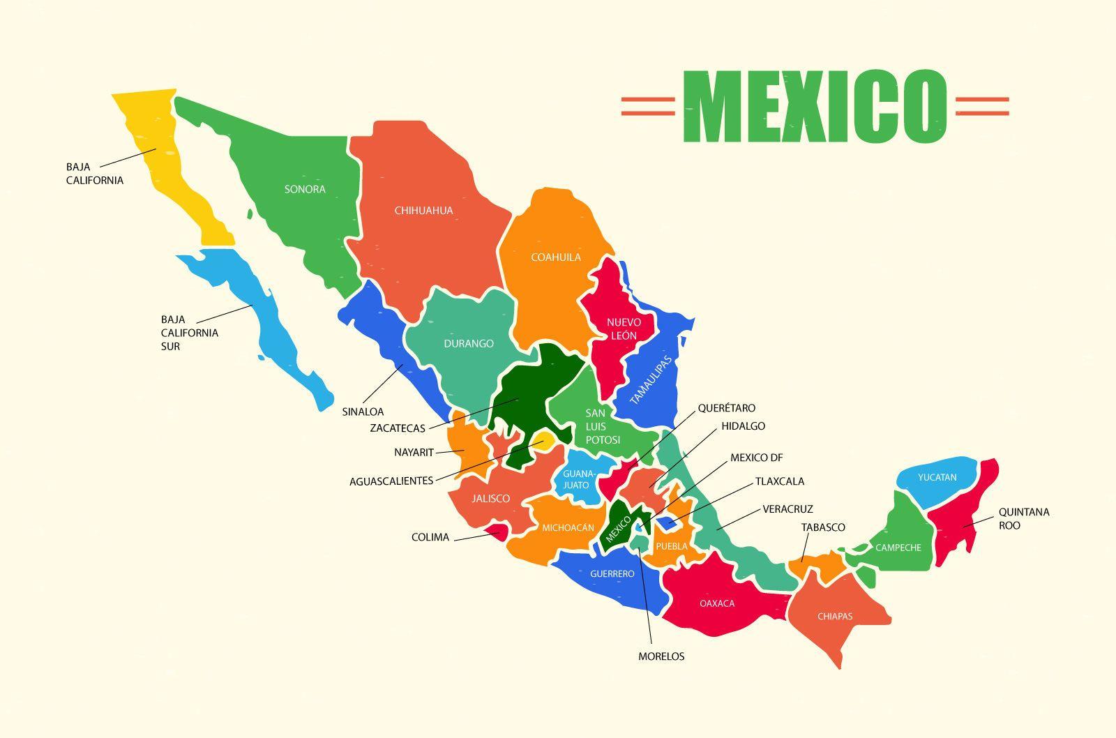 Diseño vectorial de mapa de México