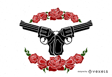 Guns and Roses Design