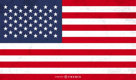 Amerikanische Grunge Flagge Vektor