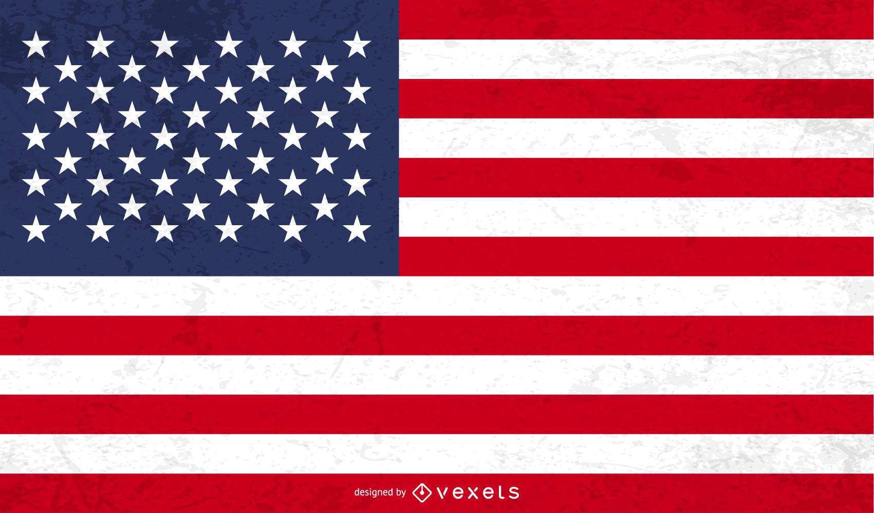 Vector de bandera de grunge americano