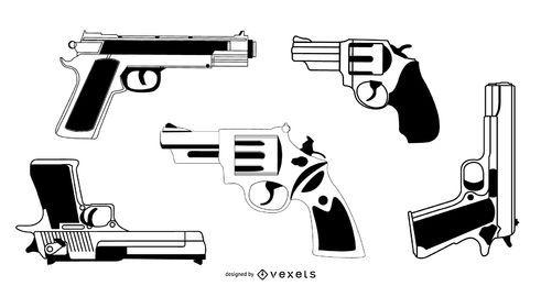 Vector conjunto de armas