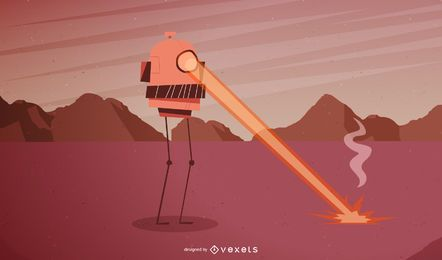Space Robot Vector 1