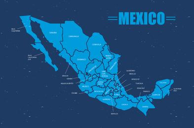 Vetor de mapa do México