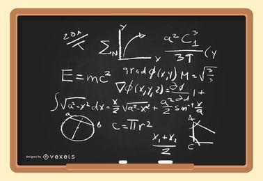 Vector de fórmulas físicas de amplificador matemático