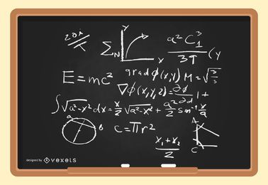 Vetor de fórmulas físicas matemático amp