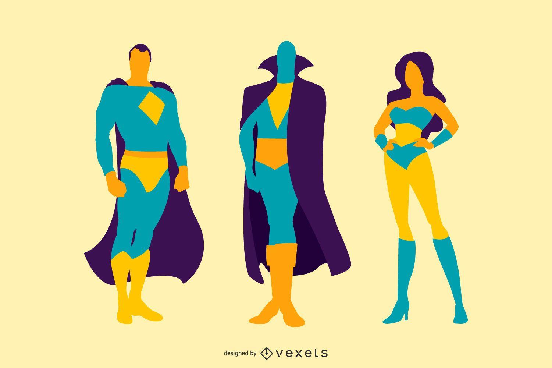 Comic Characters illustration set