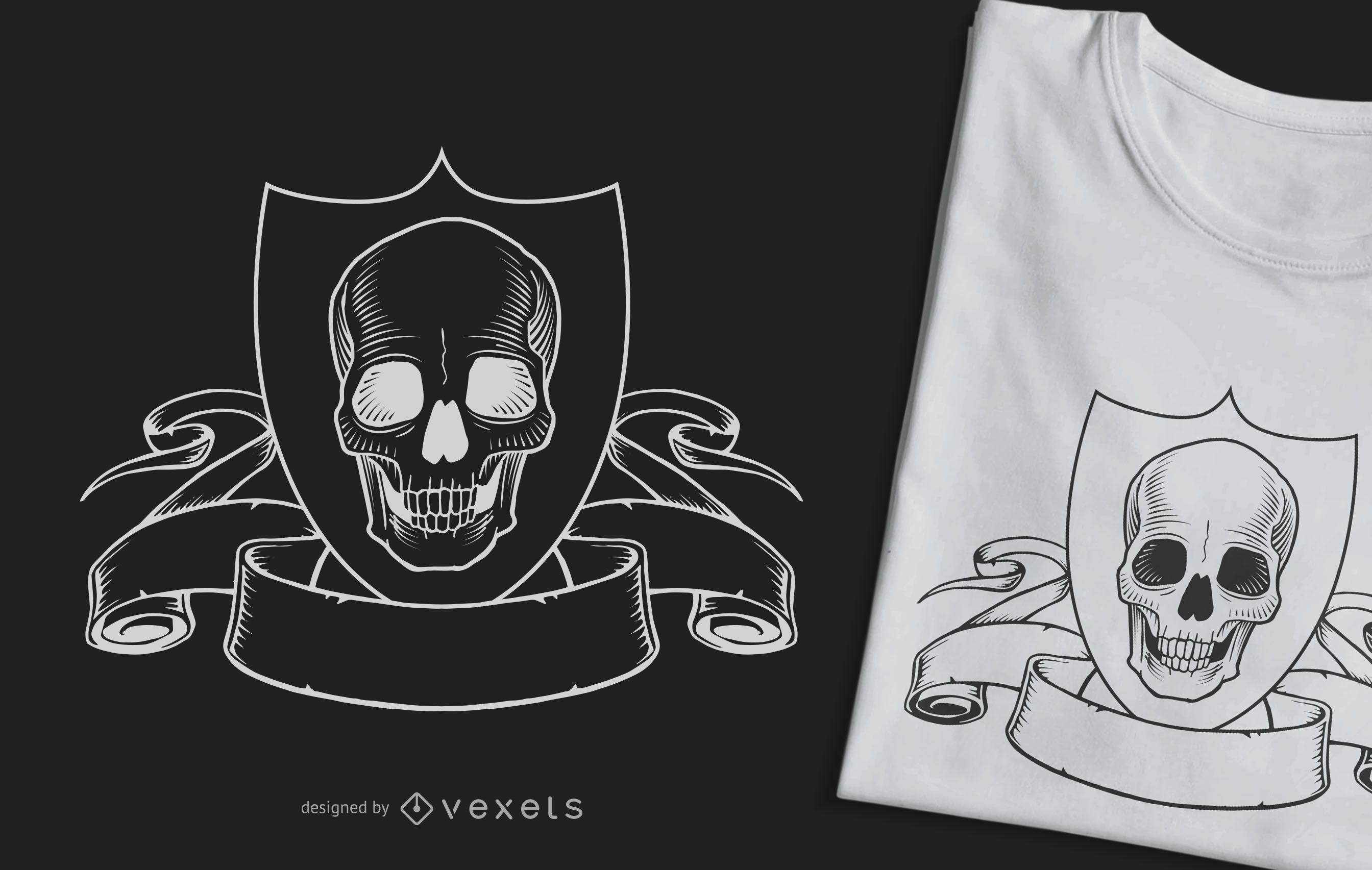 Skull Crest T-Shirt Design