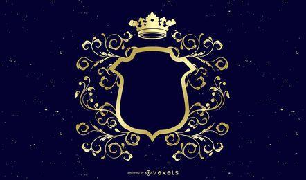 Escudo de decoração de ouro