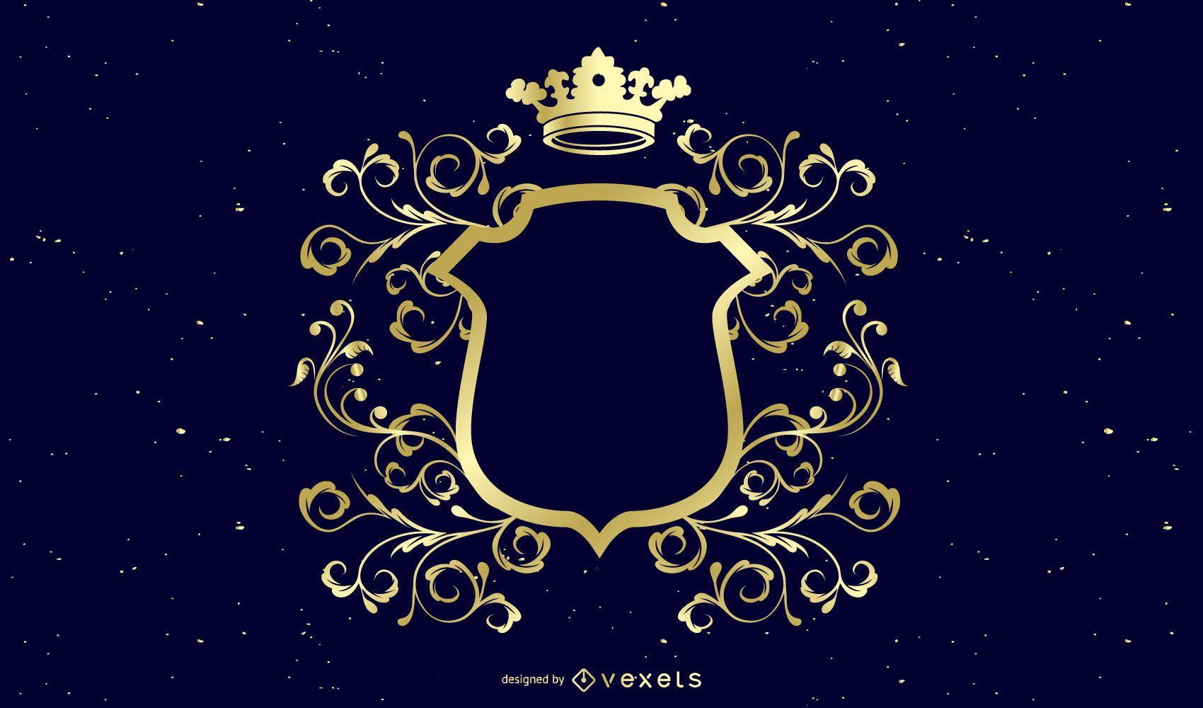 Escudo de decoración de oro