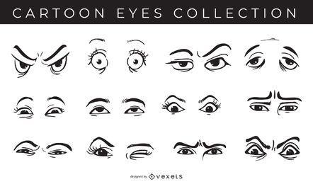 Pacote de coleção de olhos dos desenhos animados
