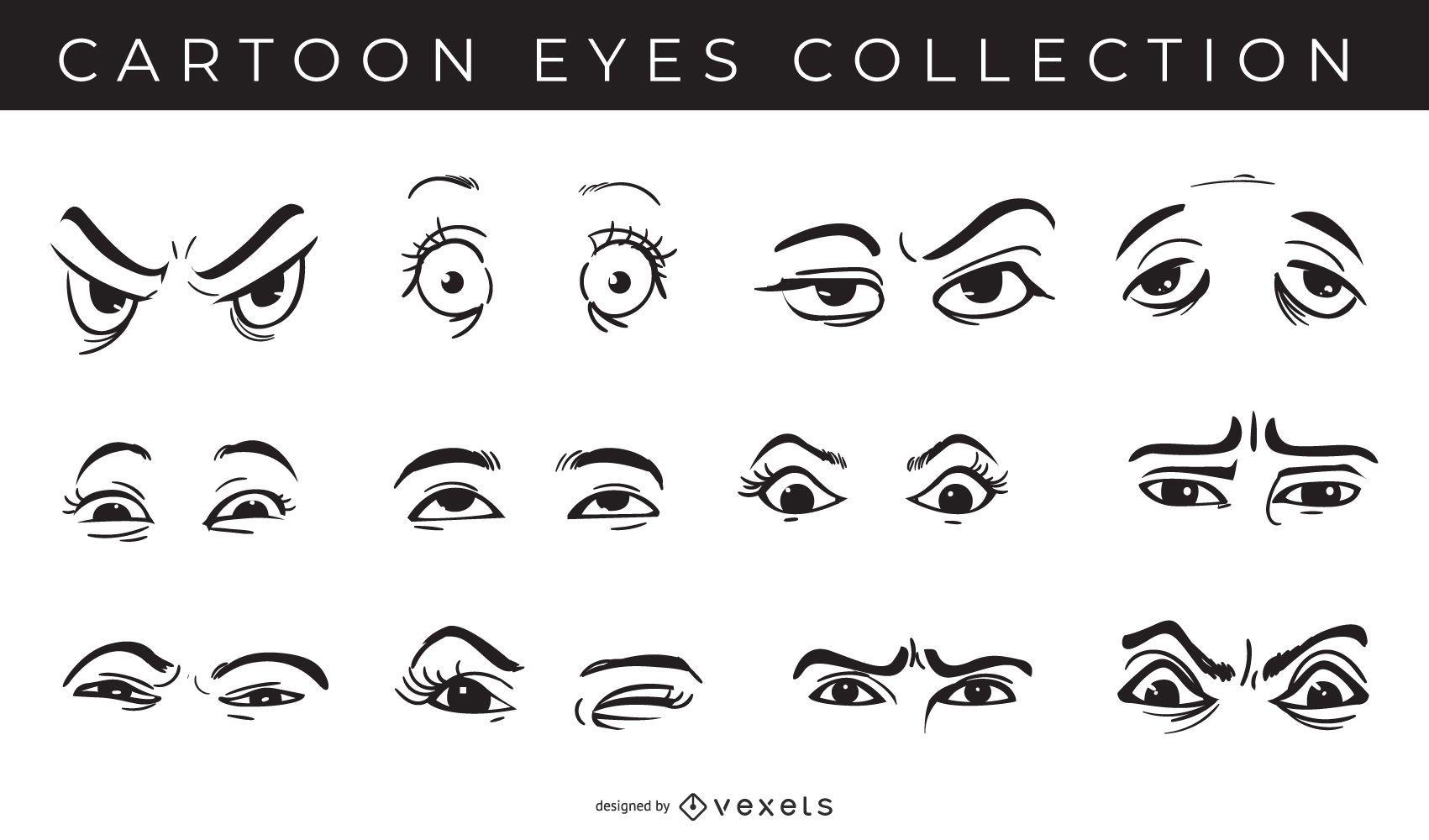 Pacote de coleção de olhos de desenho animado