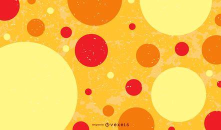 Mancha roja naranja amarilla