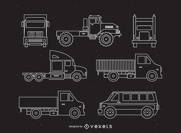 Contornos de vehículos profesionales