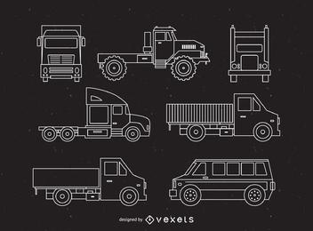 Pro Fahrzeug Konturen