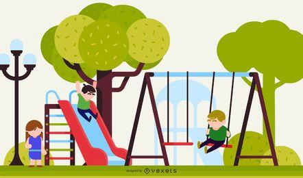 Vector de entorno infantil 8