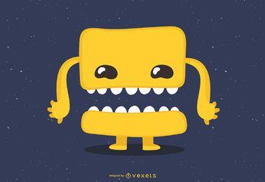 Vector lindo pequeño monstruo