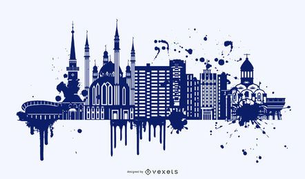 Painted Buildings vector design