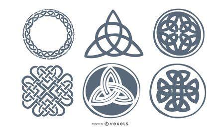 Elementos de tatuagem nórdicos celtas