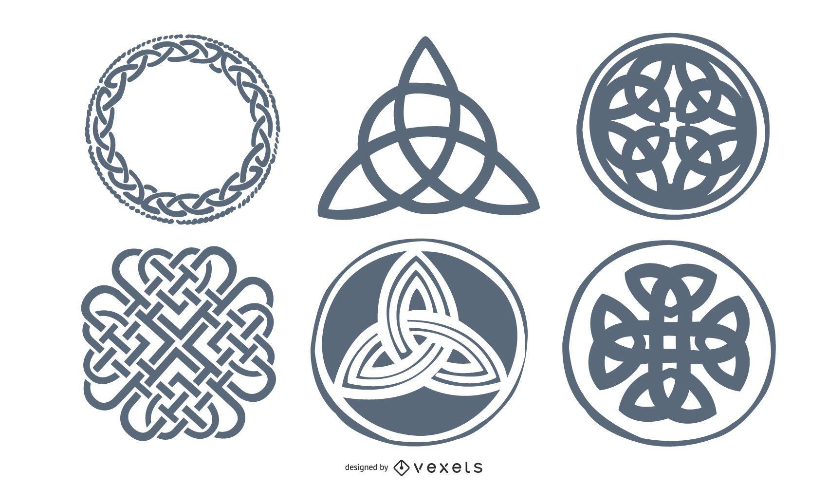 Conjunto de tatuaje nórdico celta