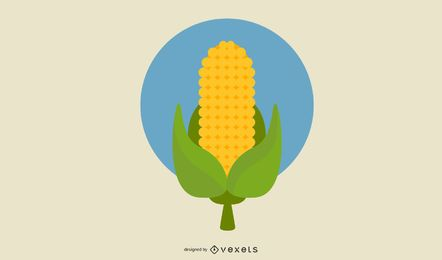 Corn Wheat Vector