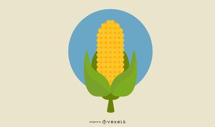 Vector de trigo de maíz