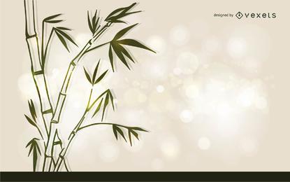 Vector de bambú de tinta