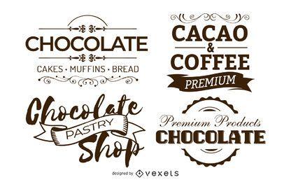 Schokoladen-Vektor-Abzeichen
