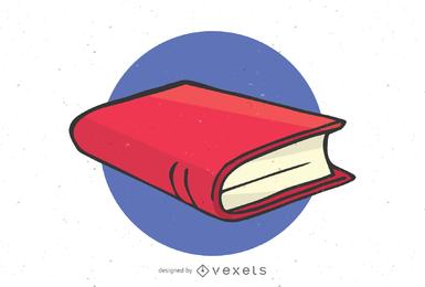 Ilustração de livro fechado isolado