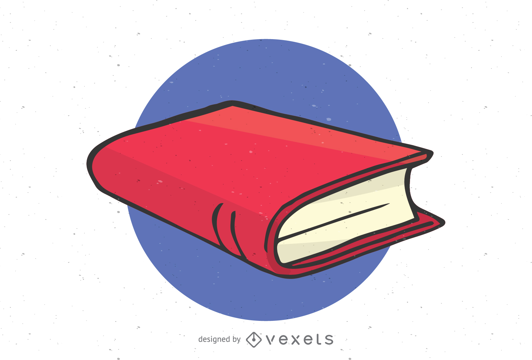 Isolated closed book illustration