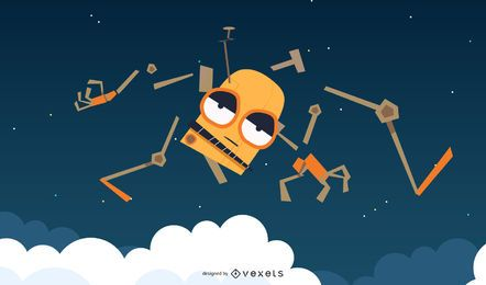 Space Robot Vector 5