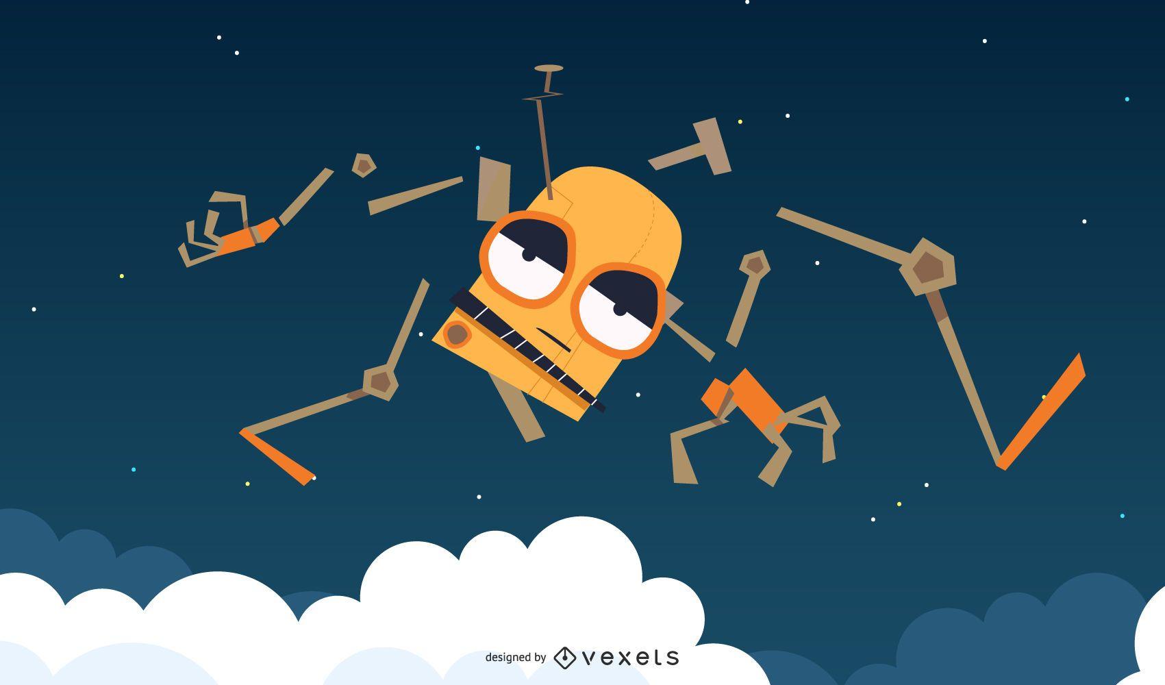 Space Robot Vector 5