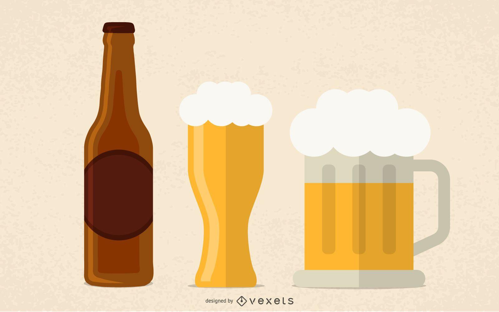 Empty Beer Vector