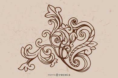 Barocke Ornament-Vektoren
