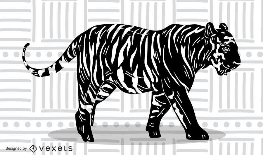 The Tiger Picture 15 Vector
