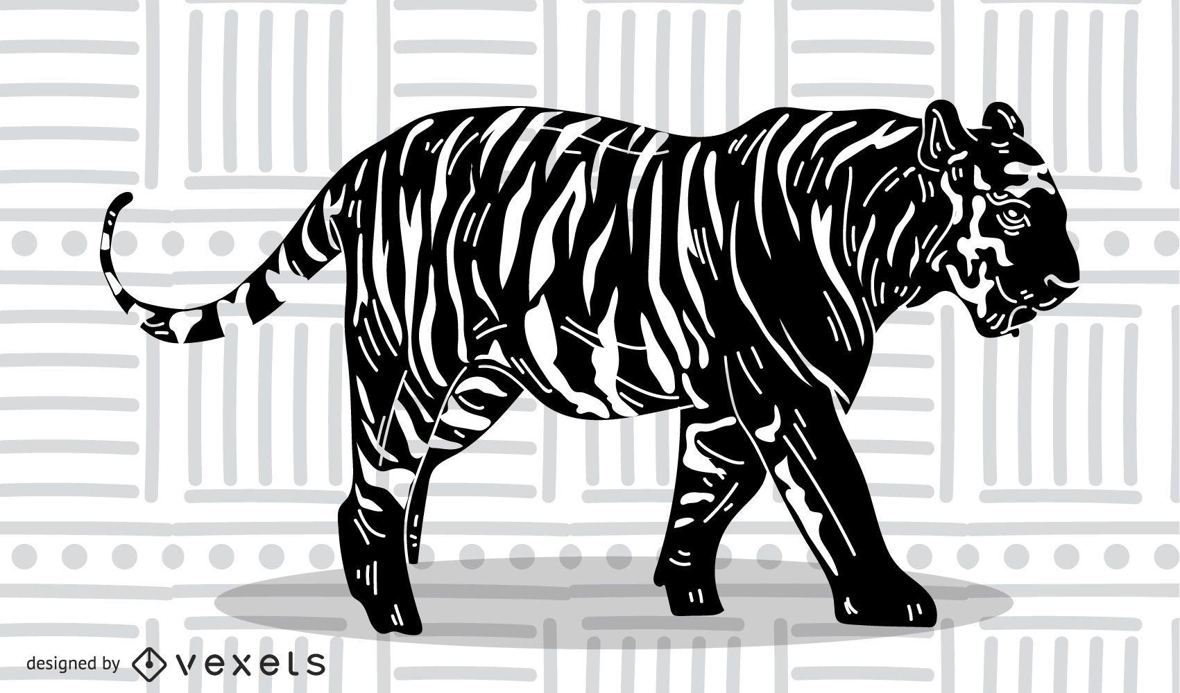 El vector de la imagen del tigre 15