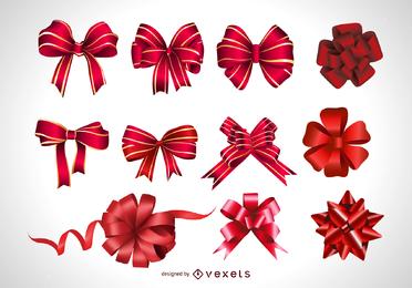 Vector festivo regalo arco
