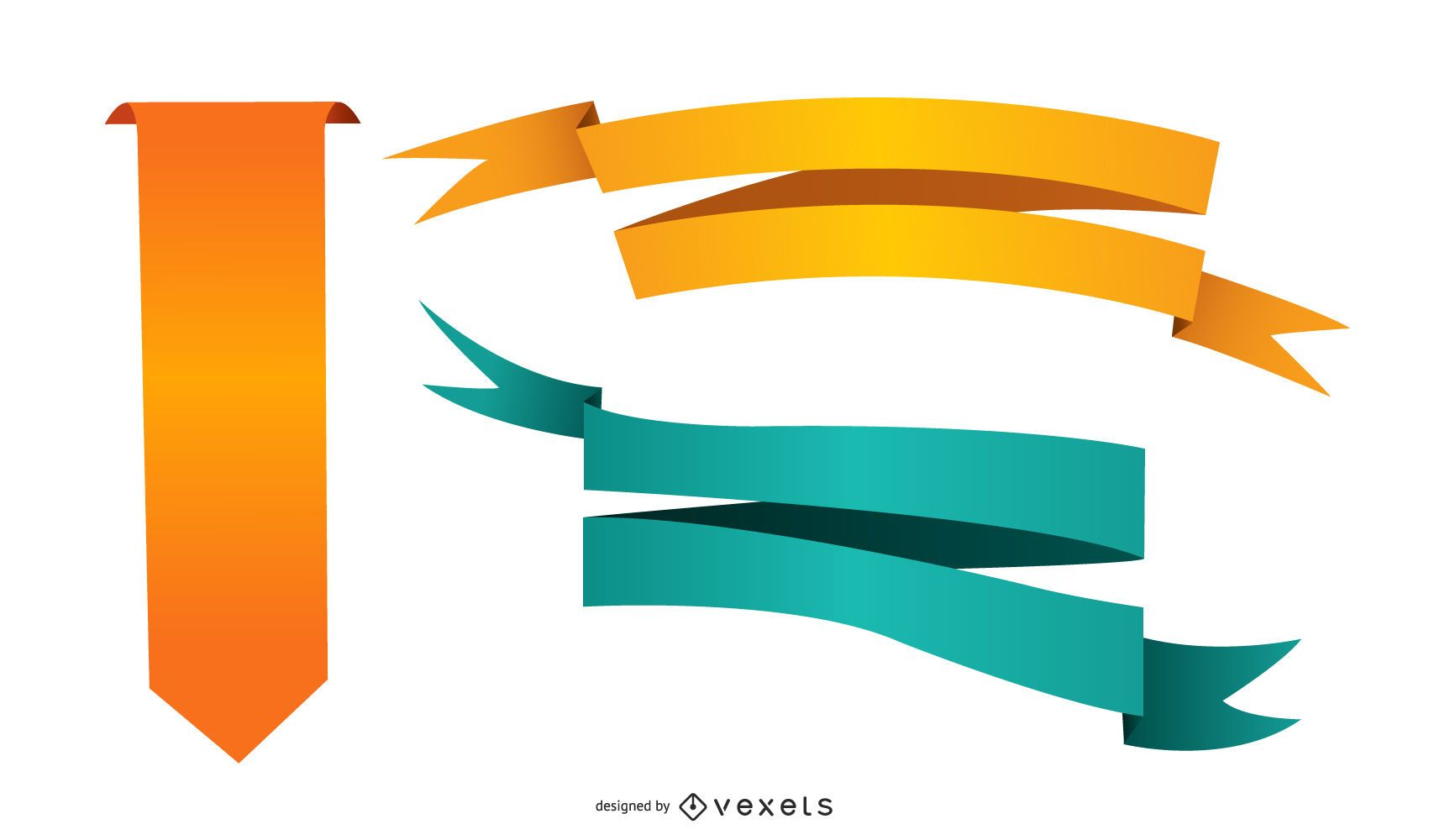 Conjunto de cinta de degradado de colores