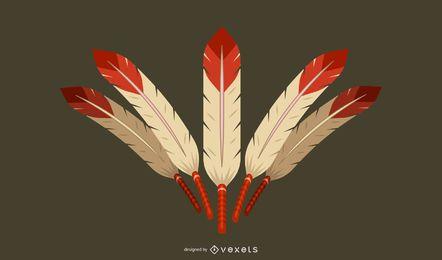 Elemento de vector clásico de plumas 3D Diseño de vectores 3d Ilustrador Ai Photoshop Ilustrador de Ai 3D Diseño clásico de Illustrator Vector