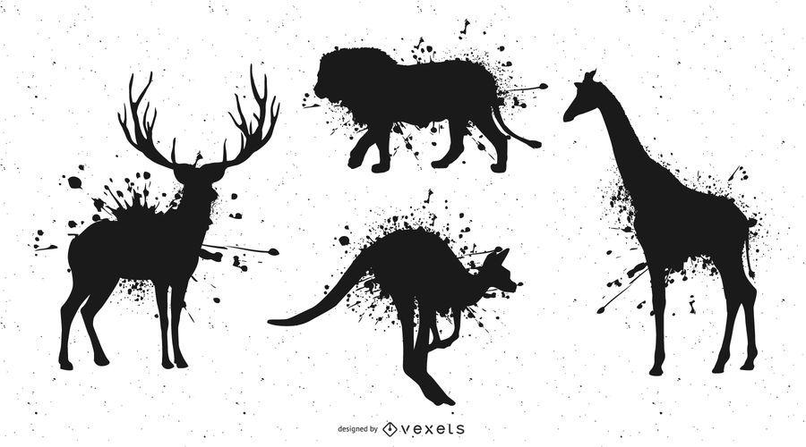 Ink Animals Vector 1