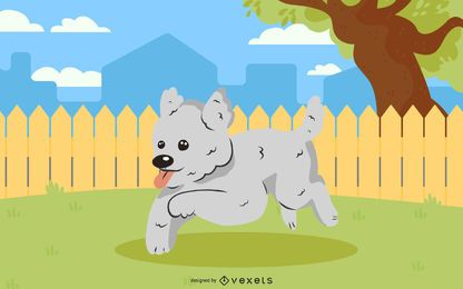 Cão pulando