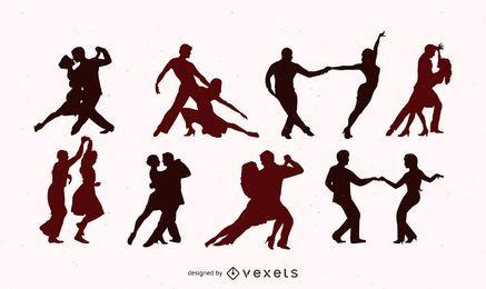 Conjunto de vetores de dança