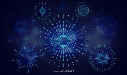 Fogos De Artifício Coloridos 02 Vector