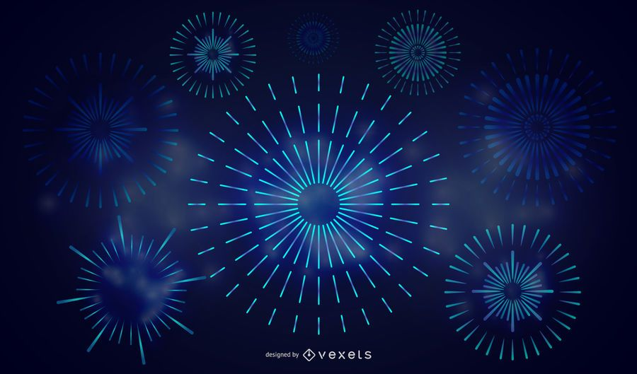 Colorful Fireworks 02 Vector