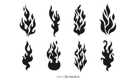 Gehe Medien produzierte Vector Cool Flames