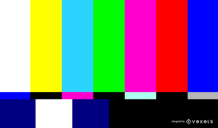 Pantalla de televisión sin señal vectorial