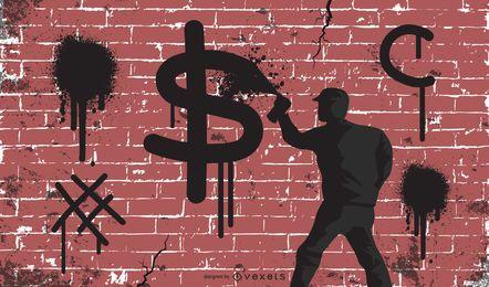 Graffiti de vetores grátis e outra arte