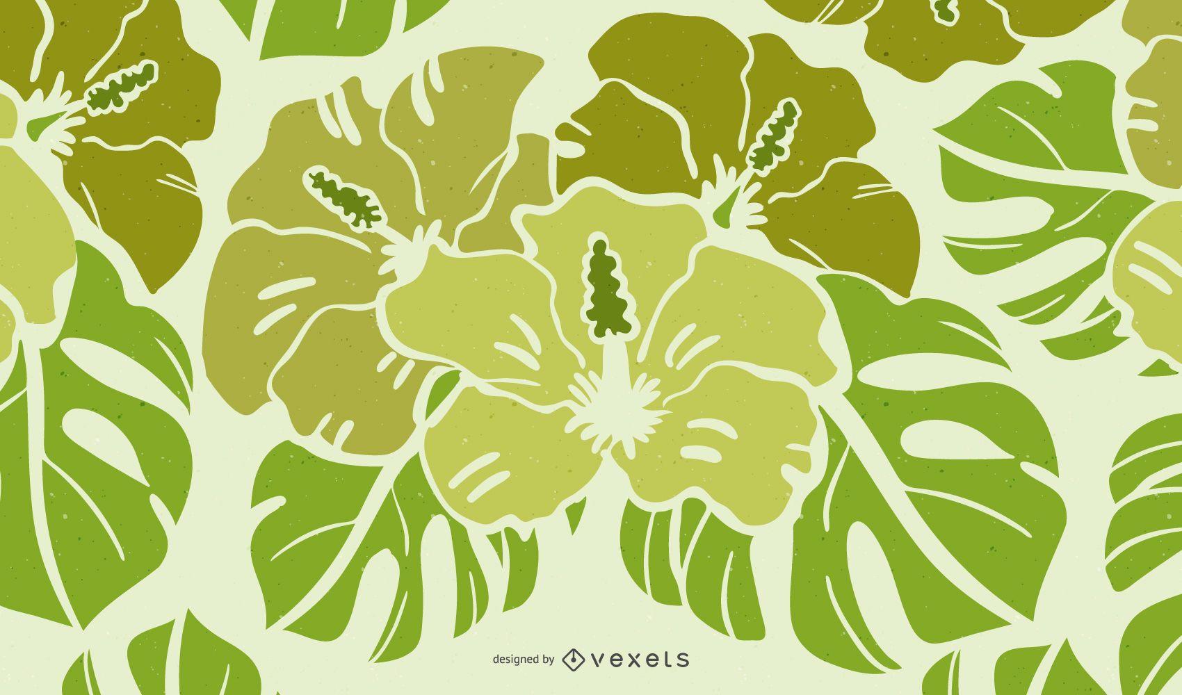 Green Florar Design Vector Graphic