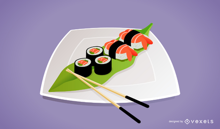 Un vector de sushi